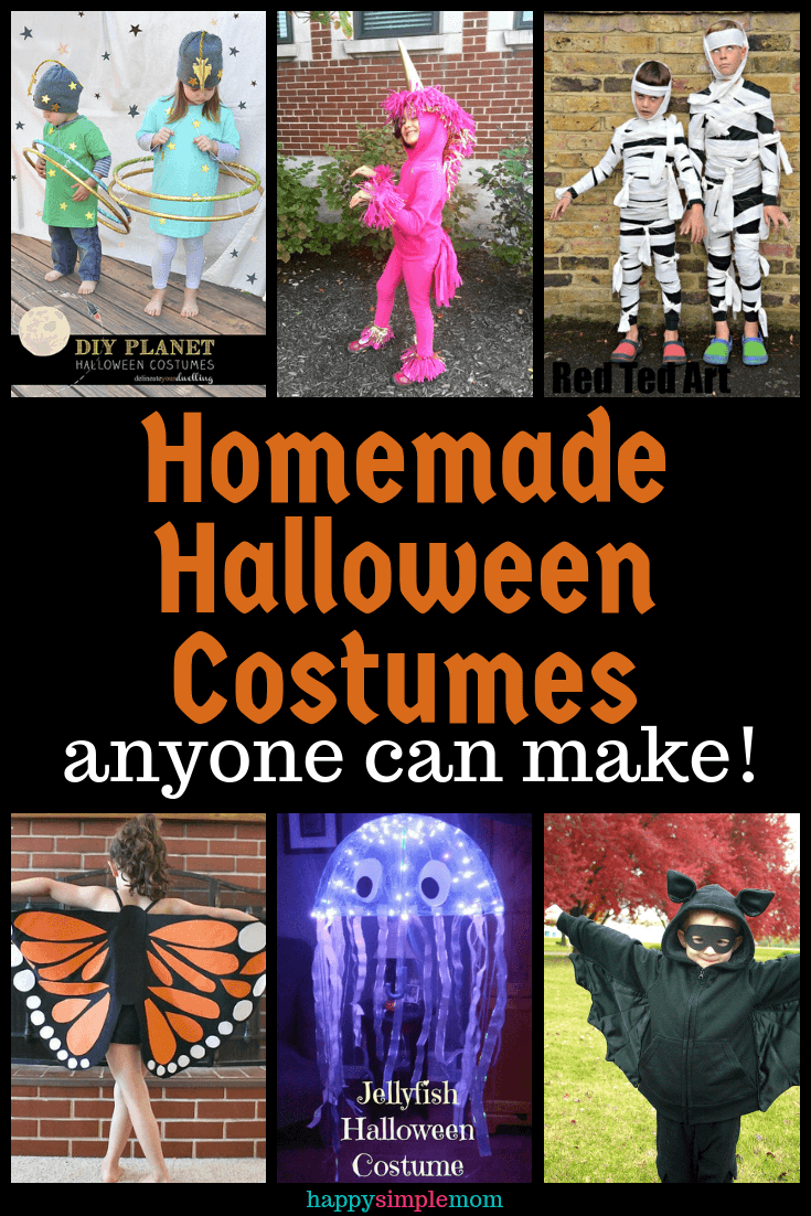 Simple homemade Halloween costume ideas for kids, currated photos