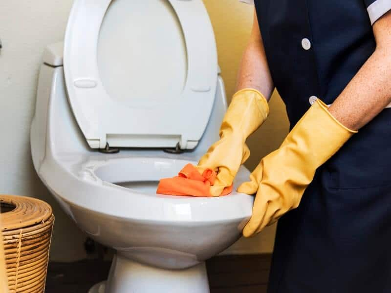 Use this speed cleaning checklist to get everything necessary done, including cleaning the toilet.