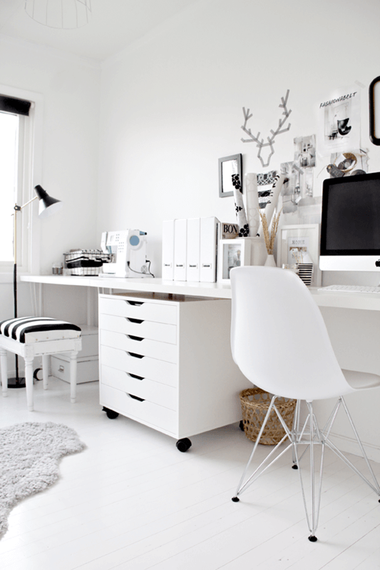 Combo small home office desk and sewing table.