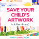 A child's artwork and ways to save.