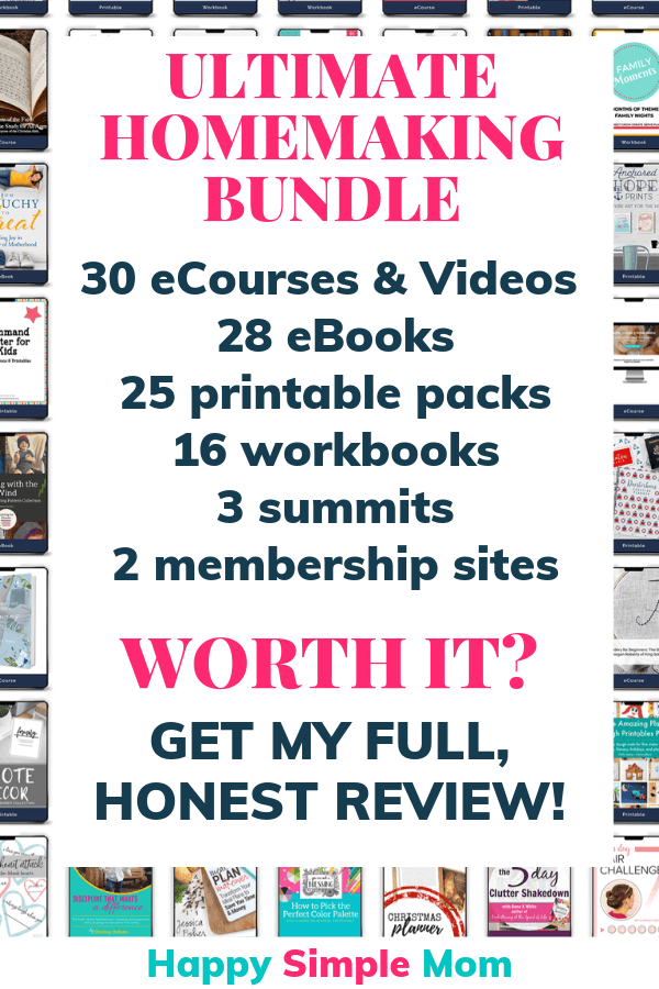 Ultimate Homemaking Bundle review. Is it worth it? Check it out!