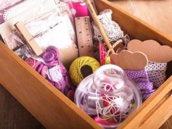 Craft room supplies organized