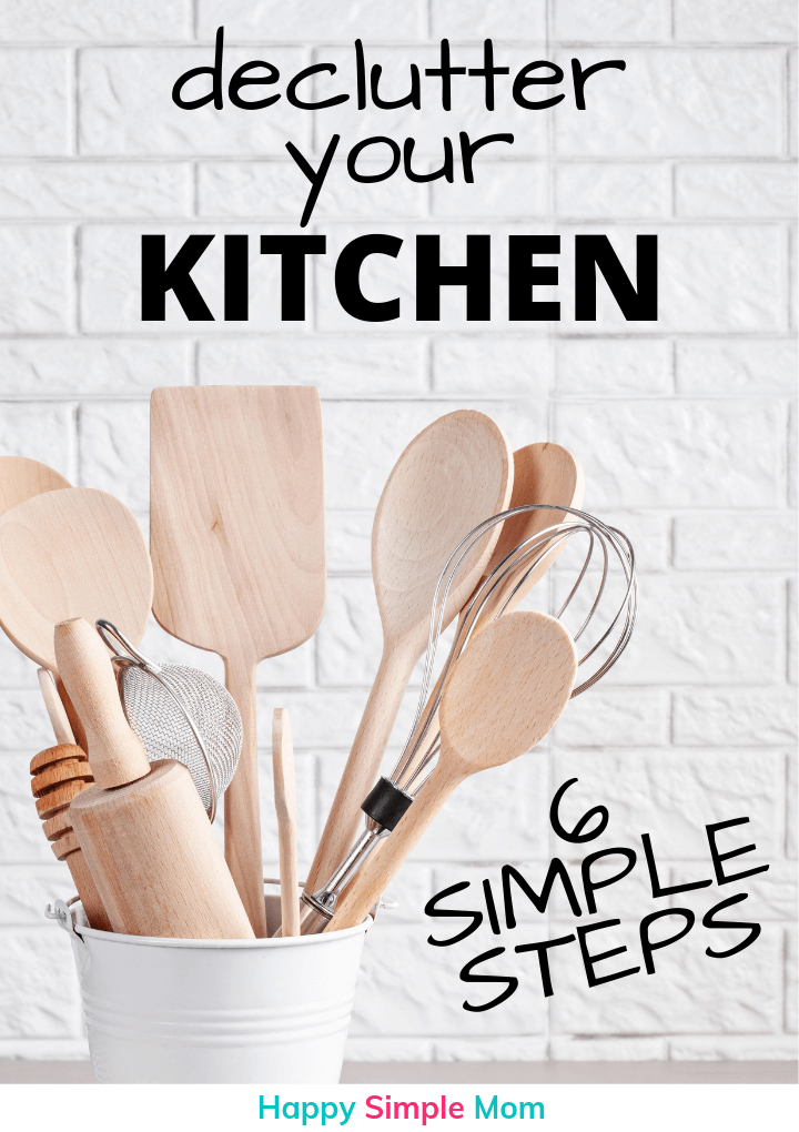 Declutter Your Kitchen Pinterest Pin