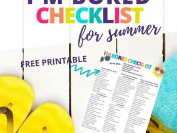 I'm bored checklist with free printable
