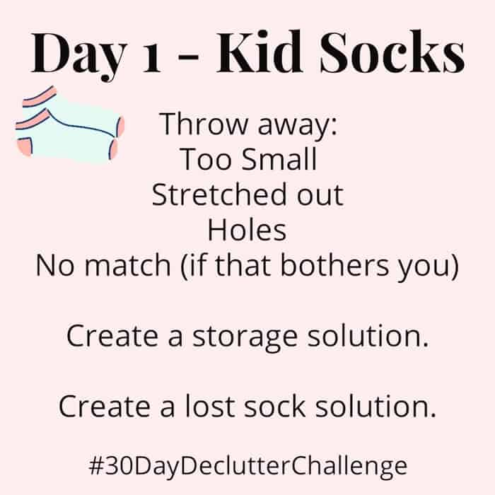Declutter Kid Socks