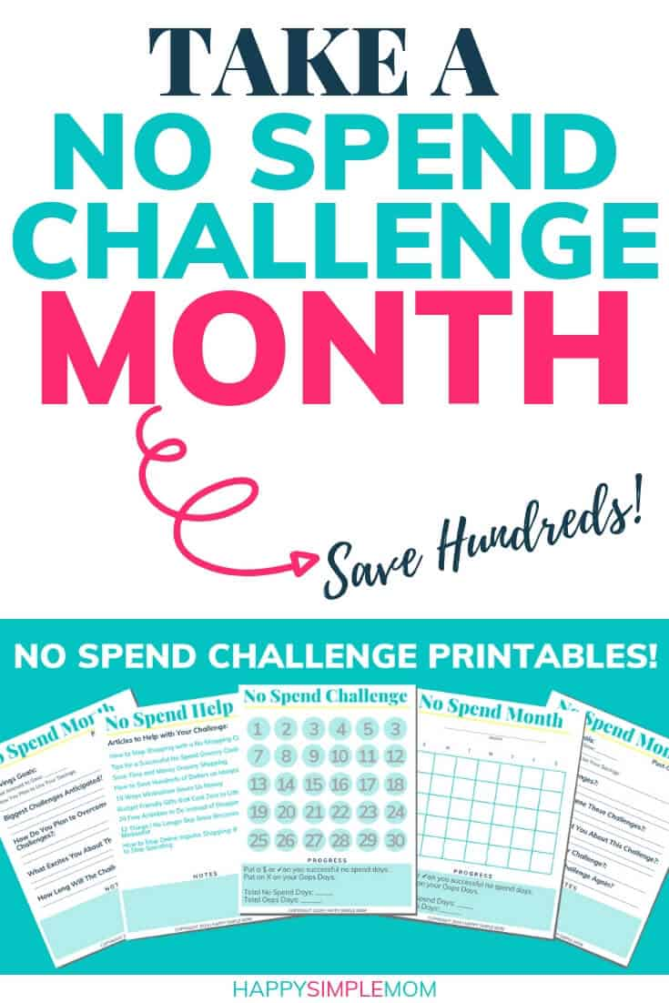 Free no spend challenge printable.