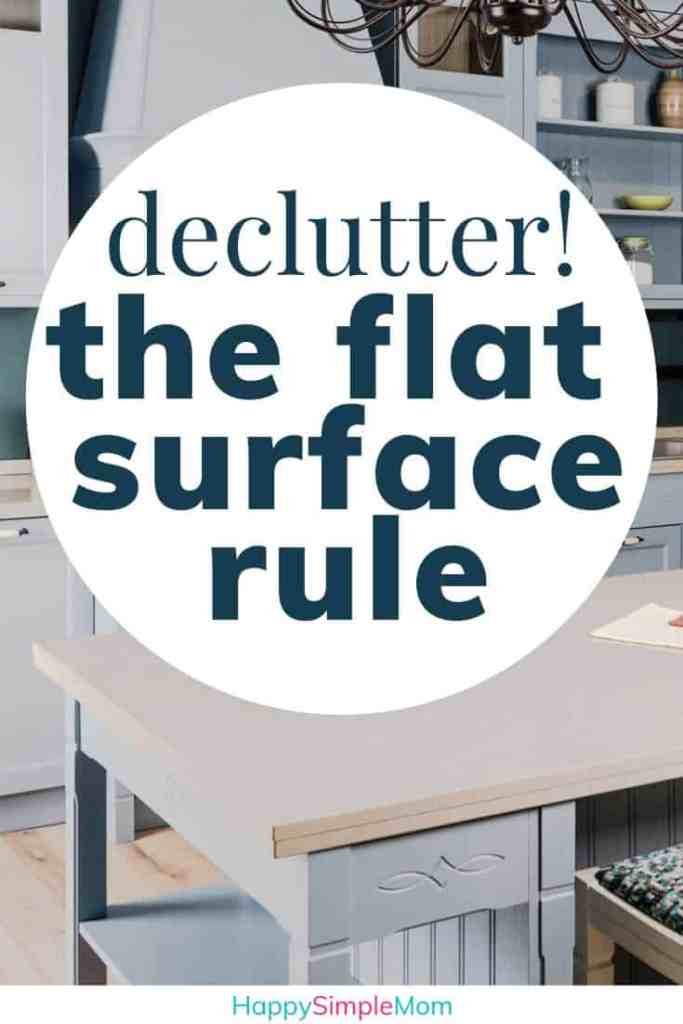 Flat surface clutter rule pin with clean kitchen countertops
