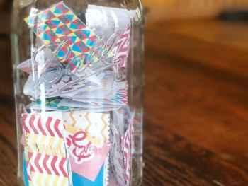 Gratitude Jar free printable slips