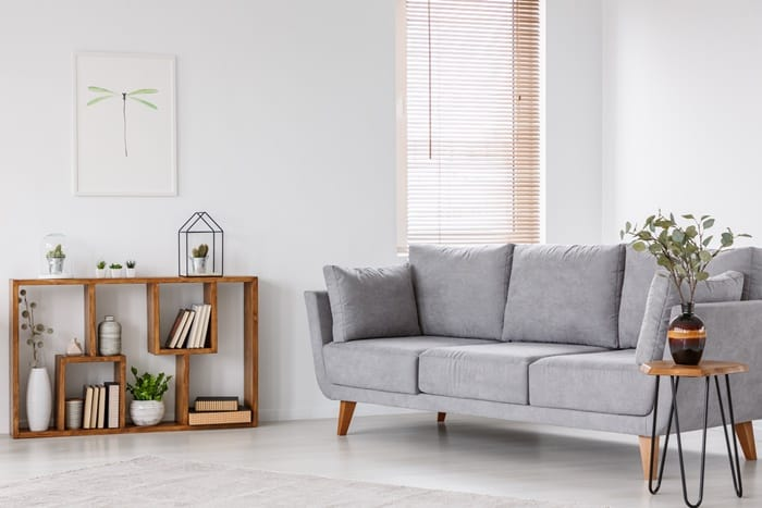 Clean and tidy living room