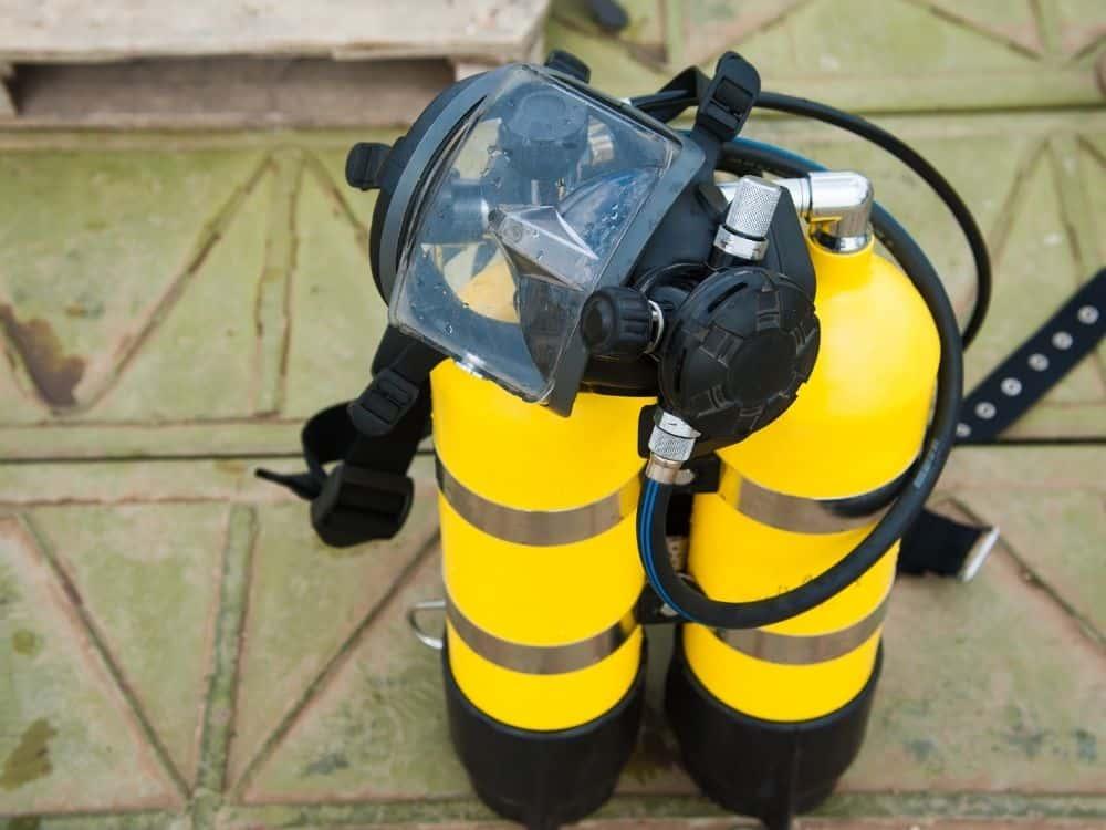 Scuba diving equipment.