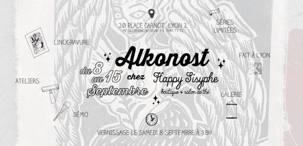 Venez découvrir l'univers de Alkonost chez Happy Sisyphe ! A partir du Samedi 8 Septembre à 11h, plongez dans l'univers d'Elsa, aka Alkonost >> https://www.etsy.com/fr/shop/LesVicissitudes... Du 8 au 15 Septembre, une partie de la boutique se transforme en galerie pour vous proposer les linogravures, patch et broches sortis de l'univers dark mais si poétique de l'illustratrice lyonnaise. Cette semaine, pendant ses heures de présences à la boutique, Elsa vous proposera de tester l'art de la linogravure et vous verrez les coulisses de son travail. *Les horaires seront indiqués chaque jour sur cette page. Envoyer nous un MP pour éventuellement réserver un créneau. Vernissage le Samedi 8 Septembre à partir de 18h. Pétillant, chips et bonne humeur. Entrée libre.