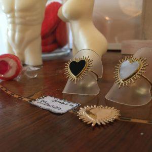 Bague ex voto coeur exvoto coeur acier inoxydable lyon happy sisyphe boutique concept bijoux sorcière grigri talisman
