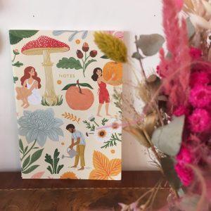 Carnet Notes fleuri champignon fruit Happy Sisyphe Boutique Lyon