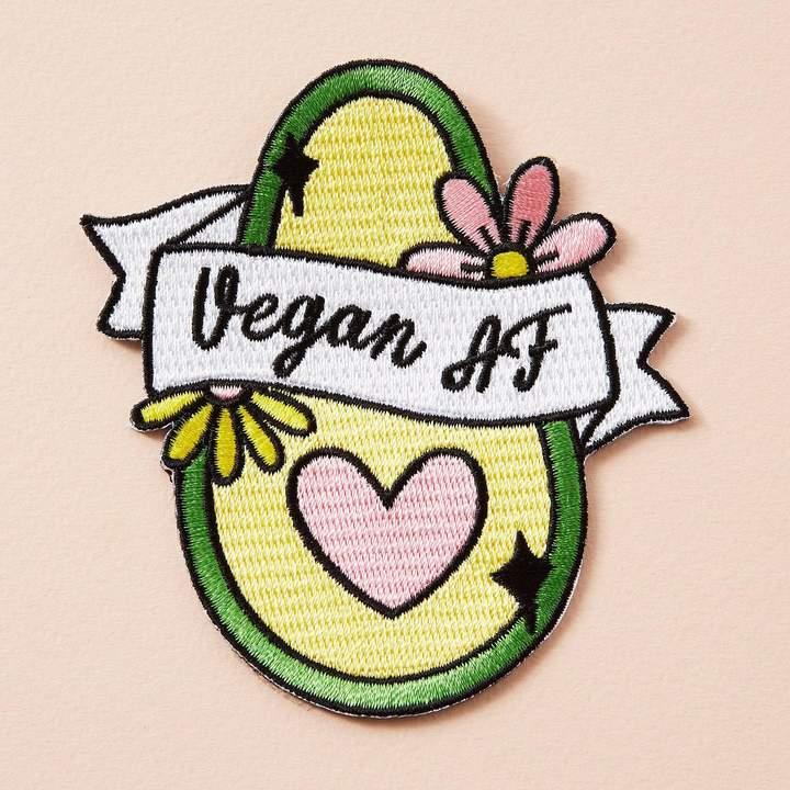 Patch vegan AF thermocollant avocat coeur fleurs Happy Sisyphe Boutique lyon