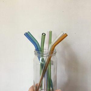 Paille en verre coloré eco-responsable Happy Sisyphe Boutique Lyon