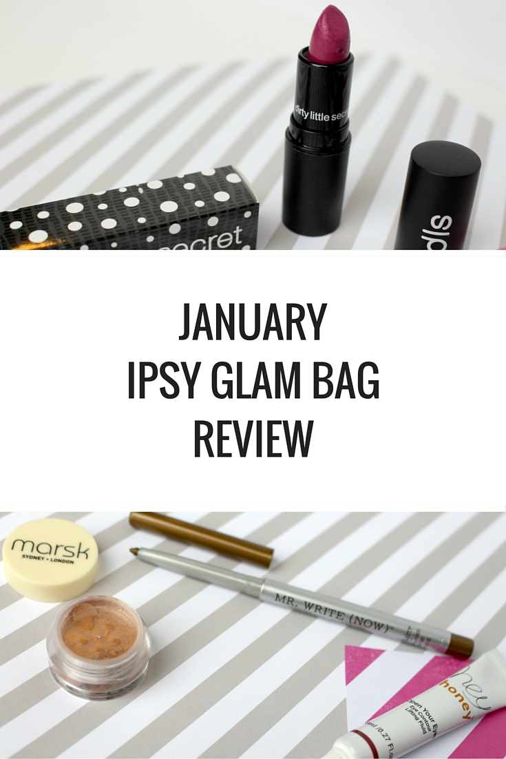 JANUARY IPSY GLAM BAG REVIEW - Happy Stylish Fit