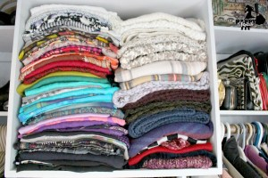 Scarves - Closet Organization - Happy Stylish Fit