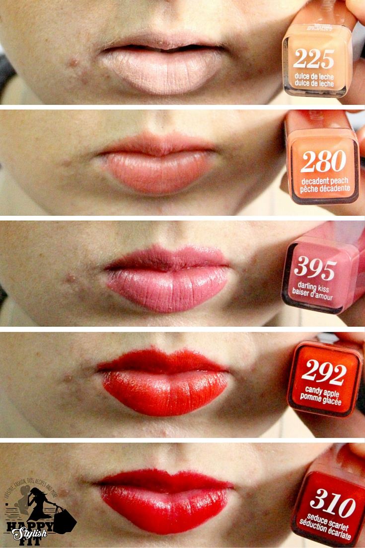 Colorlicious Covergirl Lipstick Review & Swatch - Happy Stylish Fit