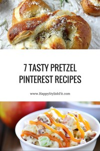 7 Tasty Pinterest Pretzel Recipes from the basic homemade pretzels and pretzel buns to the more adventurous caramel apple pretzel salad, and strawberry pretzel parfait.