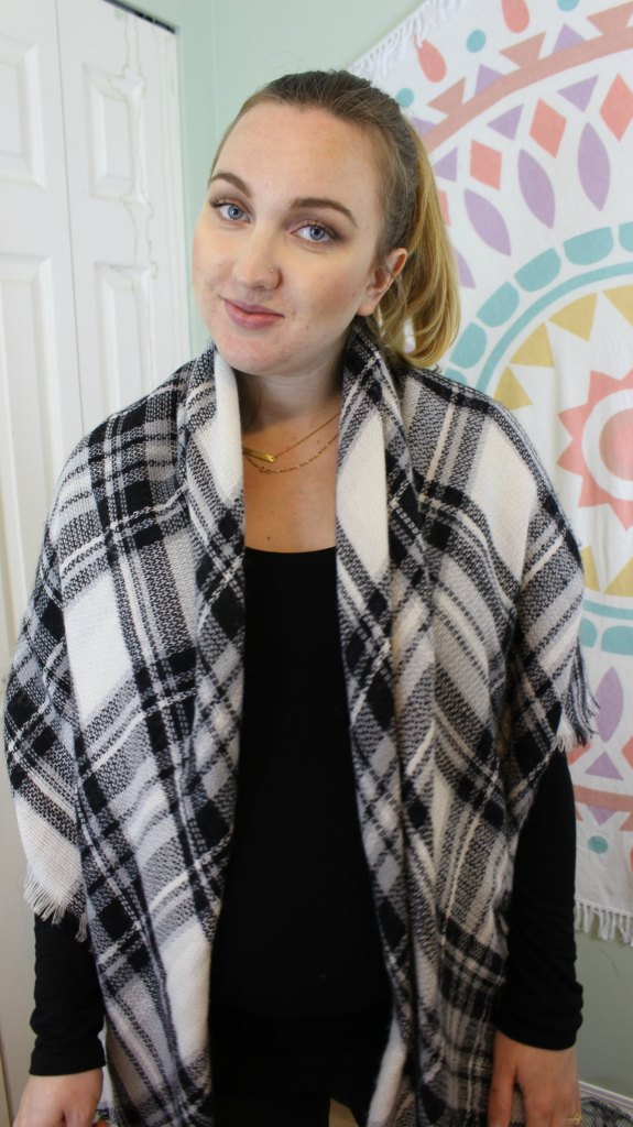 How to wear a blanket scarf 10 different ways. Video tutorial included!