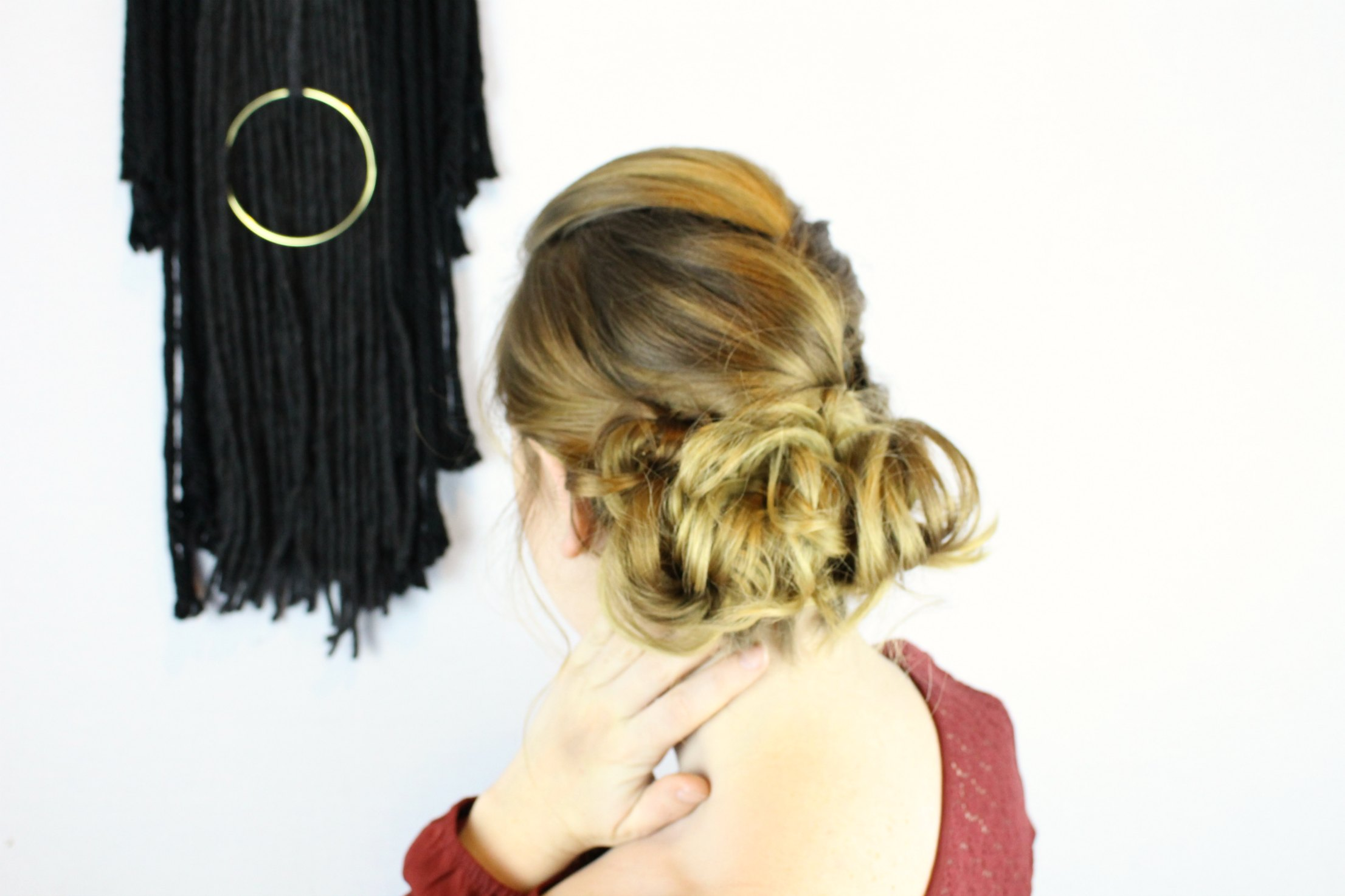 Updo hair tutorial that is good for any skill level - video tutorial included!