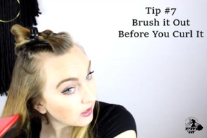 How to curl your hair with a curling wand - 7 tips for curling your hair - Happy Stylish Fit