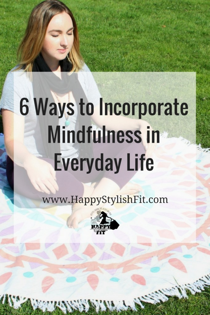 6 ways to incorporate mindfulness in everyday life. Easy tecniques that you can implement for as little as 5 minutes every other day and see real benefits from.