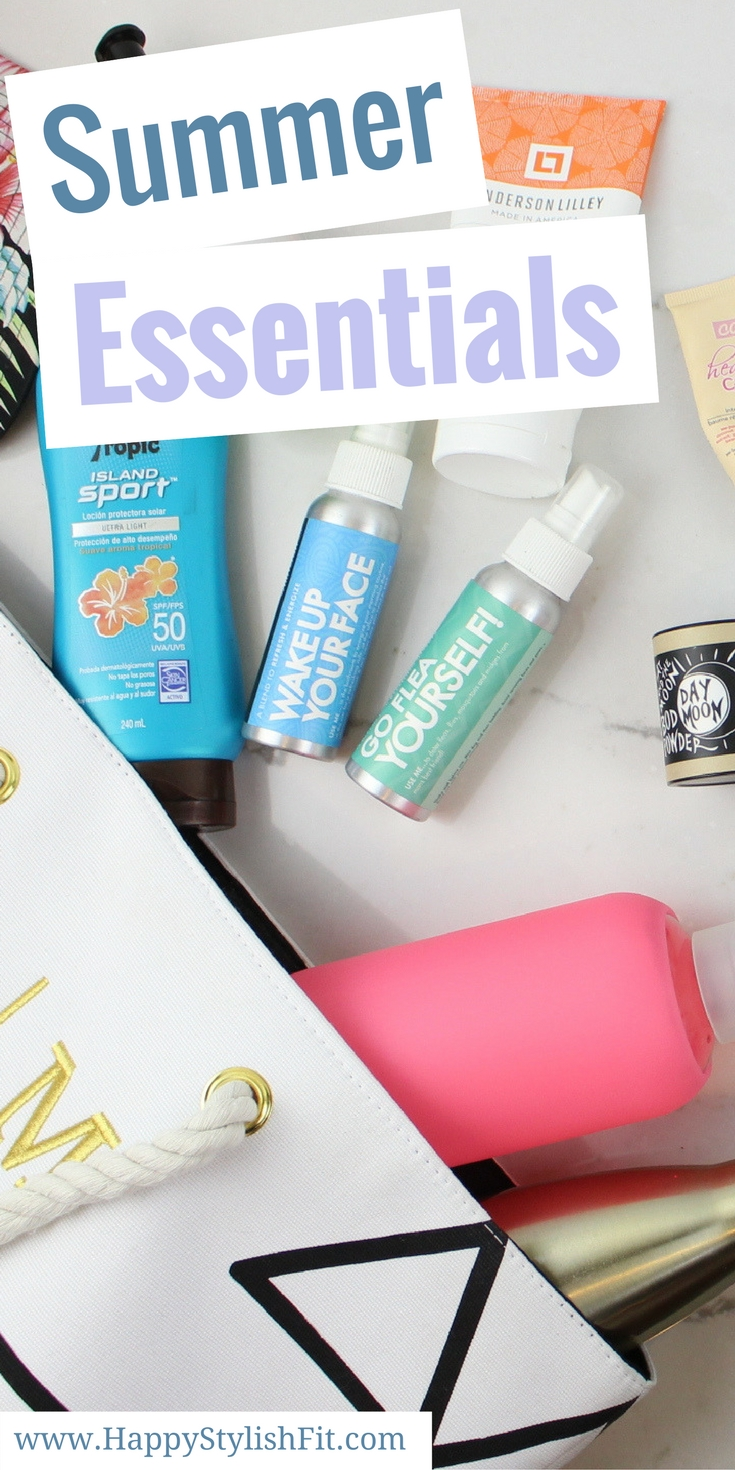 Summer Essentials that covers all of your summer must haves for a fun and moisturized summer.