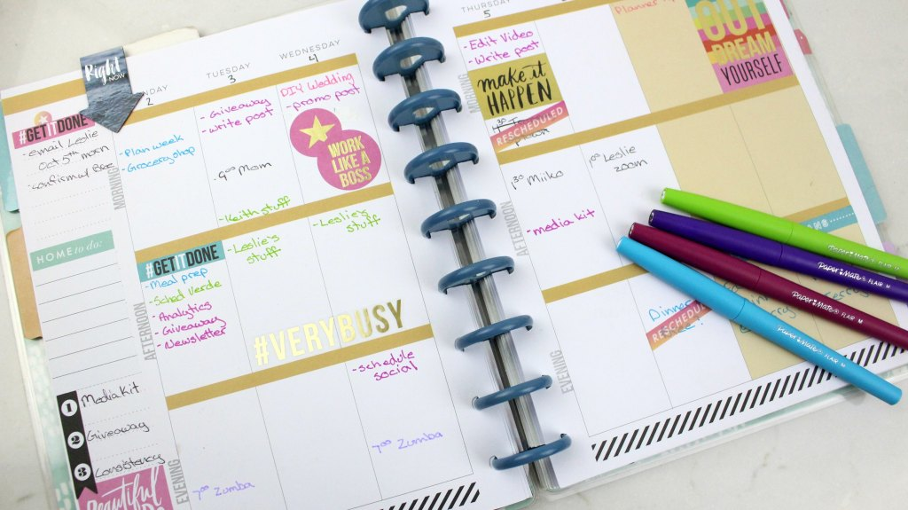 How to plan for your week and actually stay motivated to use your planner.