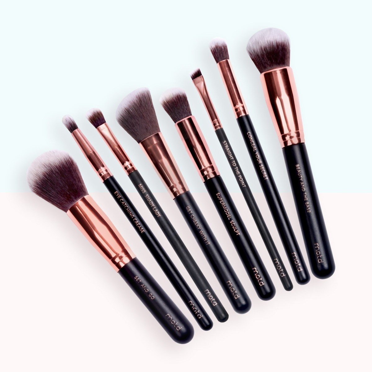 Lux Vegan Makeup Brush Essentials MOTD Cosmetics Vegan Makeup Brushes