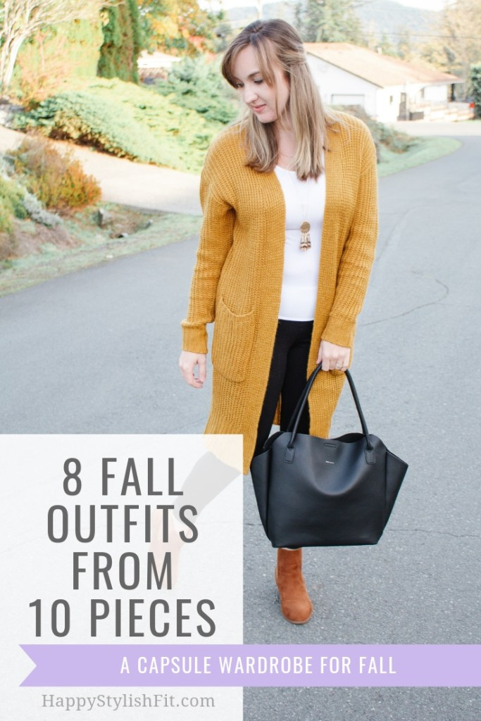 8 Fall Outfit ideas With 12 Pieces - Fashion Friday with