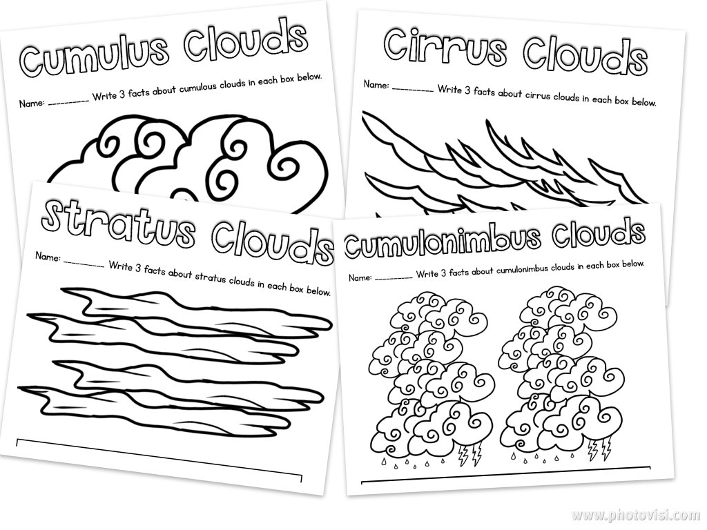 Cumulous Clouds Worksheet