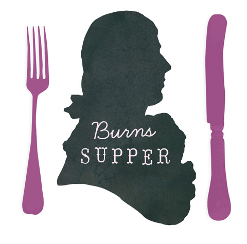 Burns night menu template for Burns supper menu template