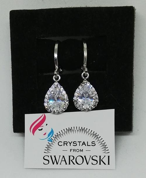d866864312efd1 Orecchini da donna oro 18 kt placcato e cristalli Swarovski Originali