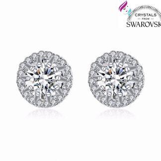 475bcb493d8da7 You're viewing: Orecchini da donna punto luce placcati oro bianco 18 k e  cristalli Swarovski 16,90€