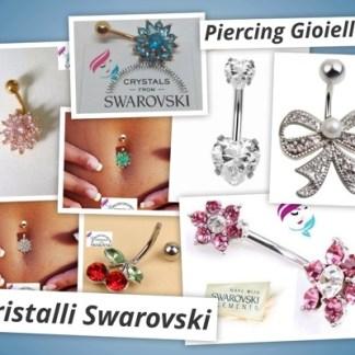 Piercing Gioielli con Cristalli Swarovski