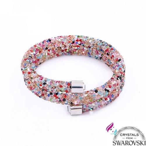9c6b5fb65a95bf Bracciale Bangle Crystaldust con cristalli Swarovski multicolori -