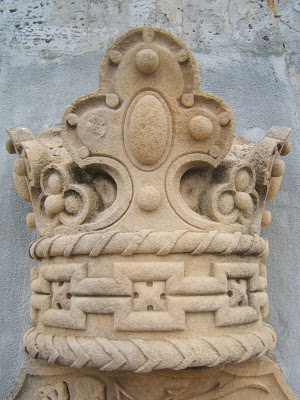 carved stone crown