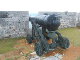 cannon in fort wall