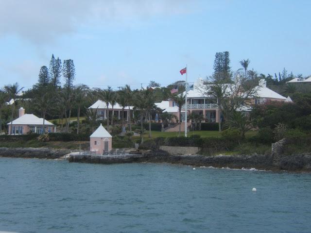Pink house in Bermuda