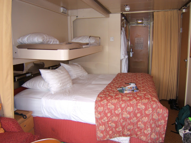Our cruise ship cabin for four (verandah stateroom)