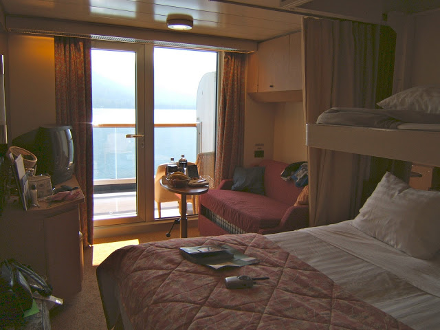 Our deluxe verandah stateroom on Holland America