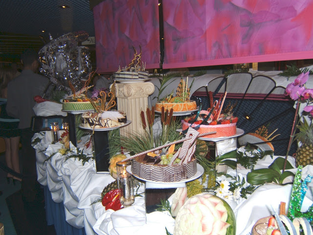 The dessert buffet on Holland America Alaskan Cruise