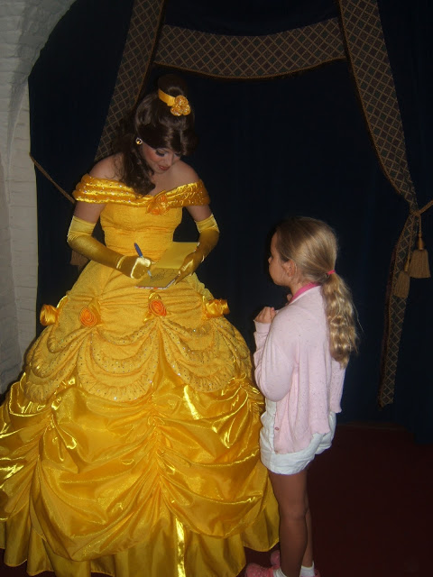 Getting Belle's autograph