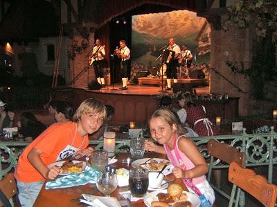 German restaurant in Epcot in DisneyWorld