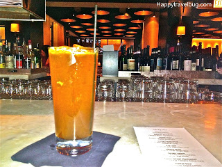 Milano Mule cocktail at the bar of RPM Italian Restaurant in Chicago