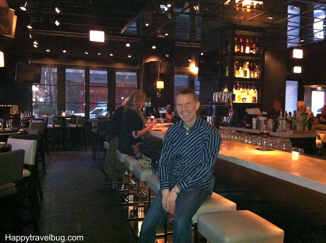 Bar area of RPM Italian Restaurant in Chicago