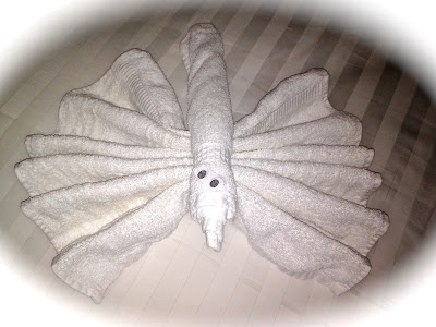 Animal made out of a towel