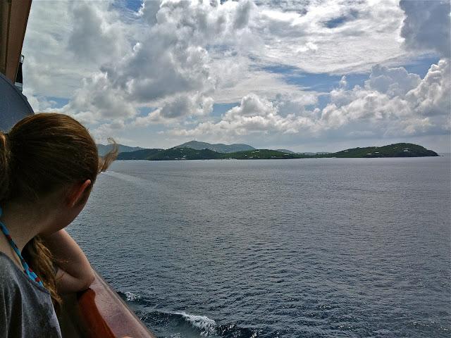 Approaching St. Thomas, USVI by cruise ship