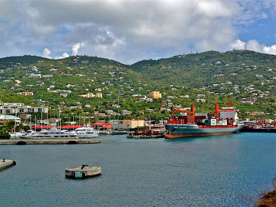 Cruise ship port at St. Thomas